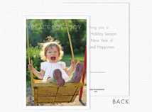 Peace.Love.Joy Holiday Photo Card